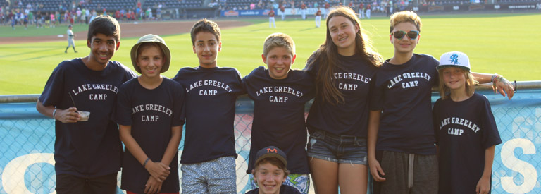 summer camp Lake Greeley Camp trips baseball