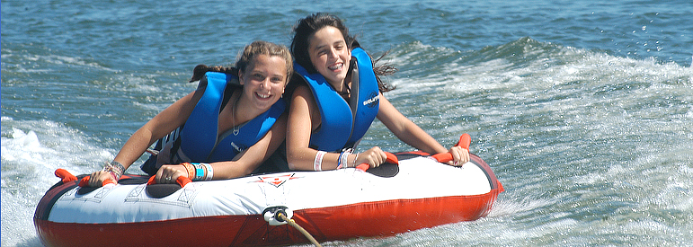summer camp watersports tubing waterskiing wakeboarding